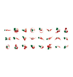 mexican flag on a white vector image