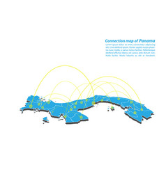 Modern of panama map connections network design vector