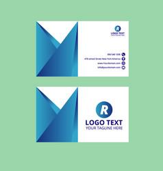 Nice blue business card vector
