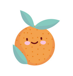 Orange fruit fresh cartoon food cute line and fill vector