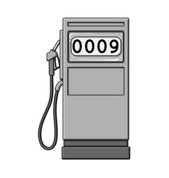 Petrol filling stationoil single icon in vector