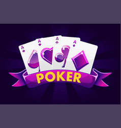 poker banner background for casino slot gambling vector image