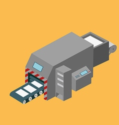 Printing machine isometric design vector image