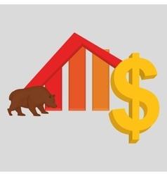Profit design money and finance concept vector