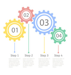 progress statistic concept infographic vector image