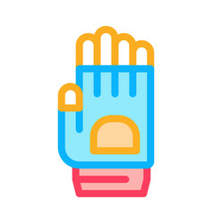protective glove icon outline vector image