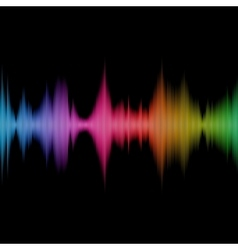 Rainbow Sound Equalizer Colorful Musical Bar on vector image vector image