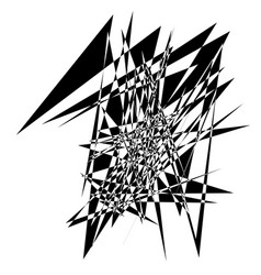 Random edgy abstract with random scattered vector