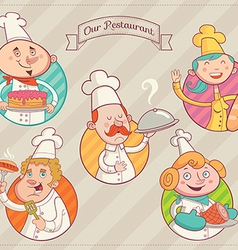 Restaurant dream team vector image