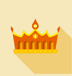 royal gold crown icon flat style vector image