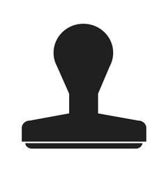 rubber stamp icon design vector image
