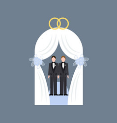 Same sex wedding vector