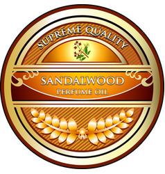 Sandalwood perfume oil vector