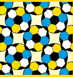 Seamless repeating football soccer pattern vector