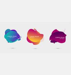 Set of colorful design templates for presentation vector