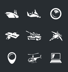 Set of military icons vector