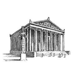 Seven wonders ancient world temple vector
