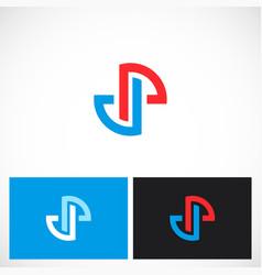 shape circle round technology logo vector image