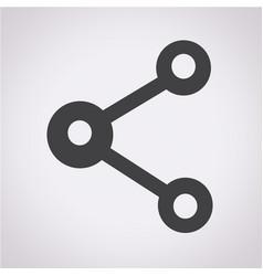 share web icon vector image