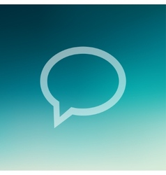 Speech Bubbles in flat style icon vector image