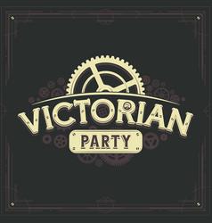 steampunk logotype design victorian era cogwheels vector image