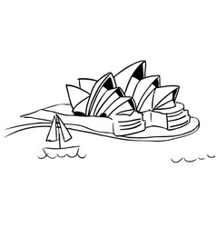 sydney opera house sketch vector image