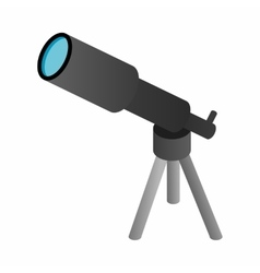Telescope 3d isometric icon vector