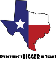 Texas Bigger vector image