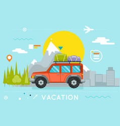 travel concept summer vacation tourism journey vector image