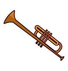 Trumpet music icon image vector