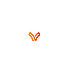 v sign initial company logo vector image