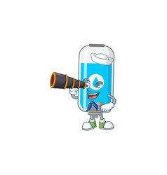 Wall hand sanitizer in sailor using a binocular vector