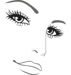 beautiful woman face portrait vector image