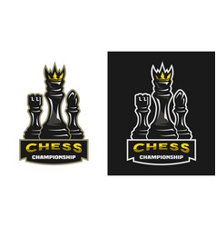 king bishop castle chess game championship vector image vector image