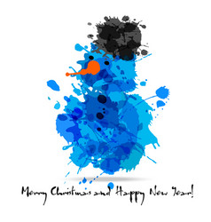 merry christmas abstract card of blots vector image