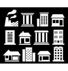 set white urban buildings vector image vector image