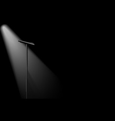 silhouette microphone vector image
