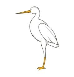 White crane icon cartoon style vector image