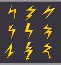 cartoon of lightning set vector image