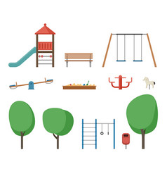 playground outdoor equipment vector image