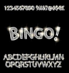 set of elegant silver alphabet vector image
