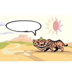 Walking Tiger vector image