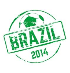 Brazil 2014 grunge rubber stamp vector image vector image