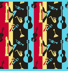 digital yellow red music vector image