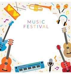 Music Instruments Objects Frame vector image vector image