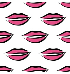 Sexy parted female lips seamless pattern vector image vector image