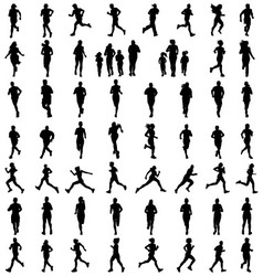 silhouettes of running vector image vector image