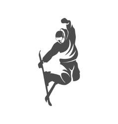 Ski logo design template elements vector image vector image