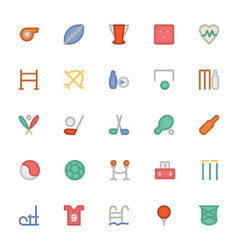 Sports Colored Icons 3 vector image vector image