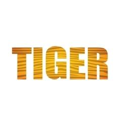 Tiger icon Animal text design graphic vector image vector image